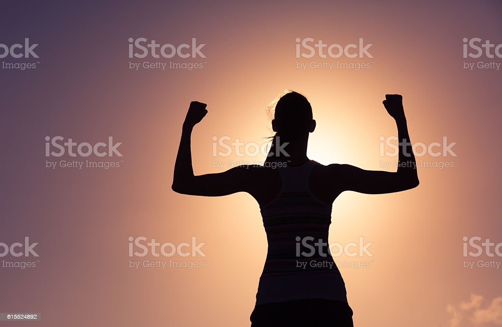 Girl power! stock photo