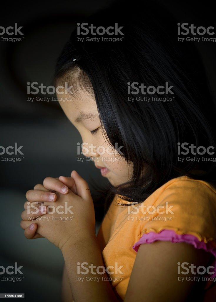 Girl Praying royalty-free stock photo