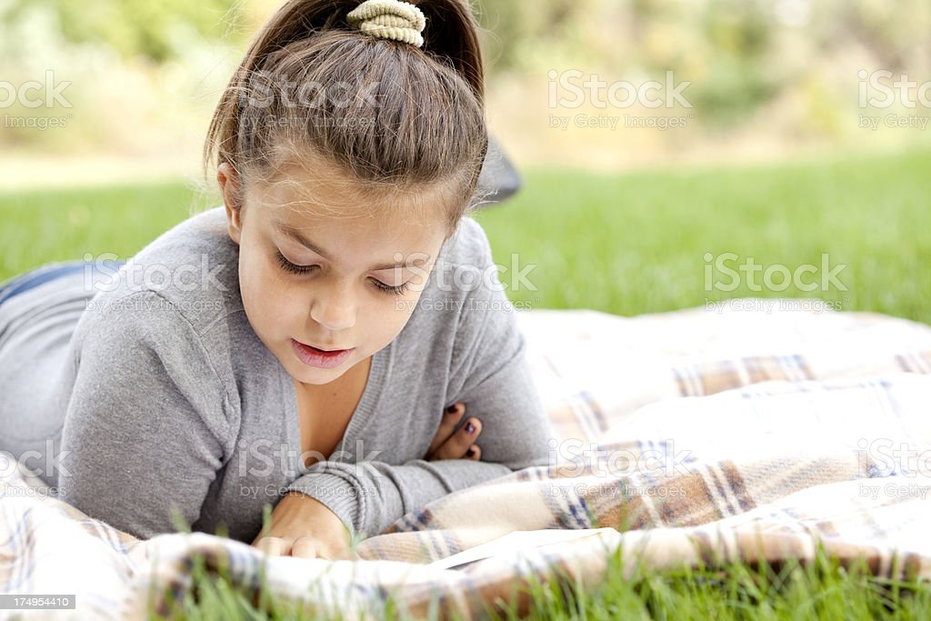 girl reading a book royalty-free stock photo