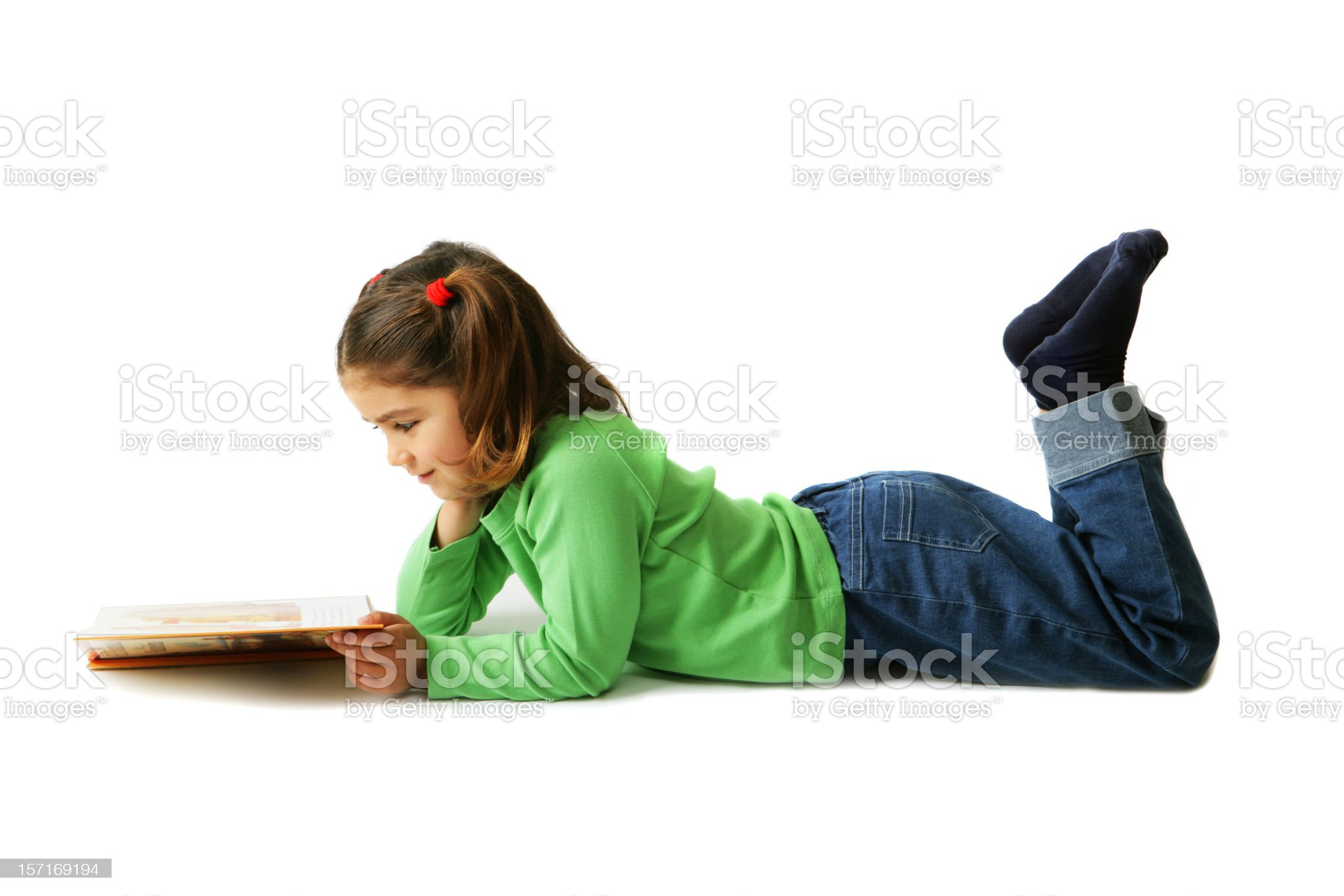 Girl reading royalty-free stock photo