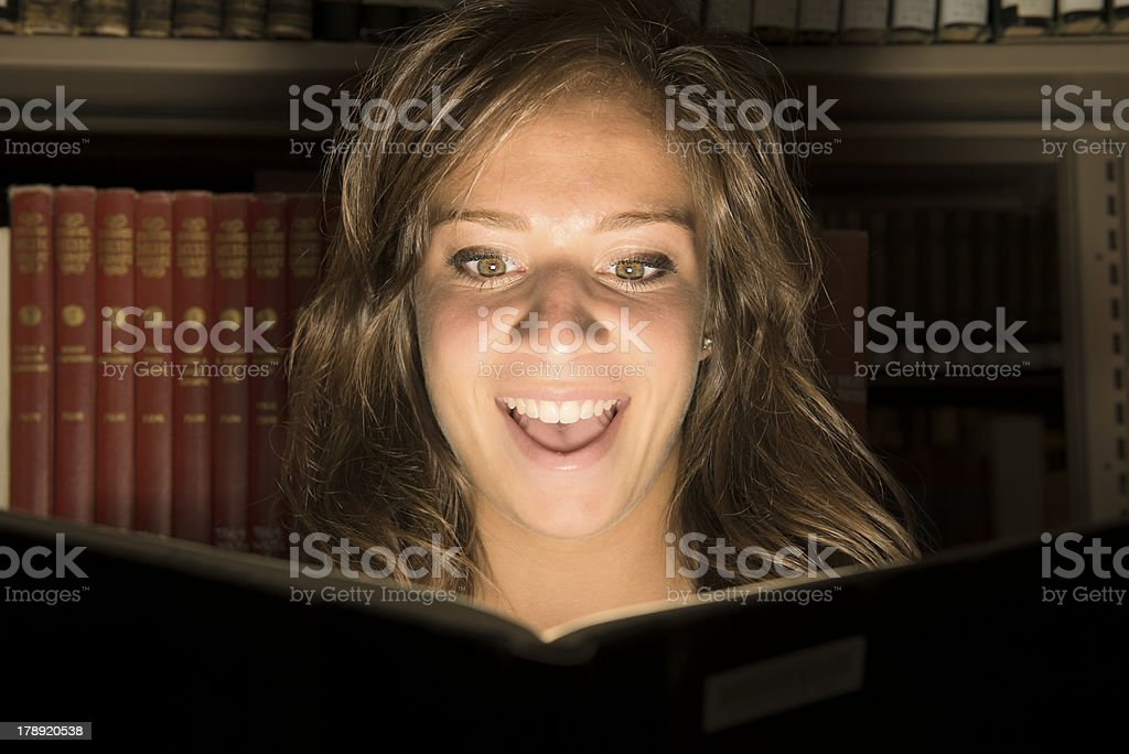 Girl reading the Book royalty-free stock photo