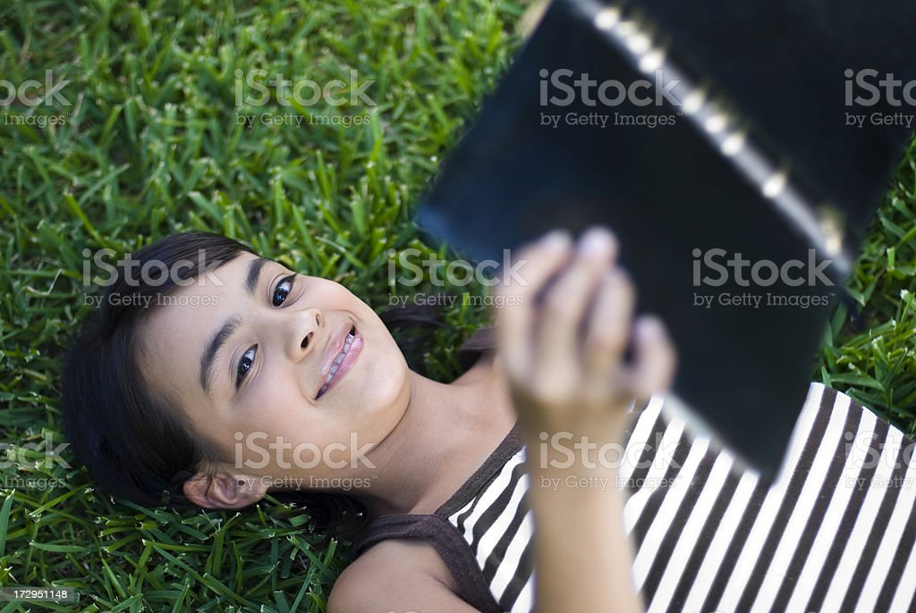 Girl relaxing royalty-free stock photo