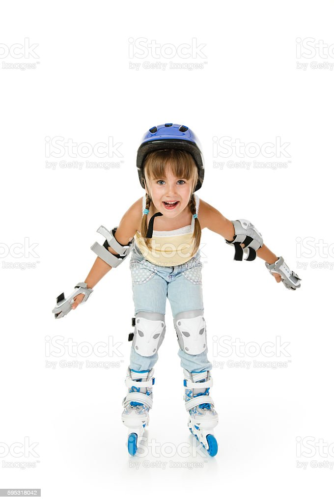 girl roller stock photo