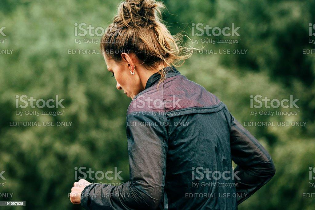 여자아이 가입자 marathon runner royalty-free 스톡 사진