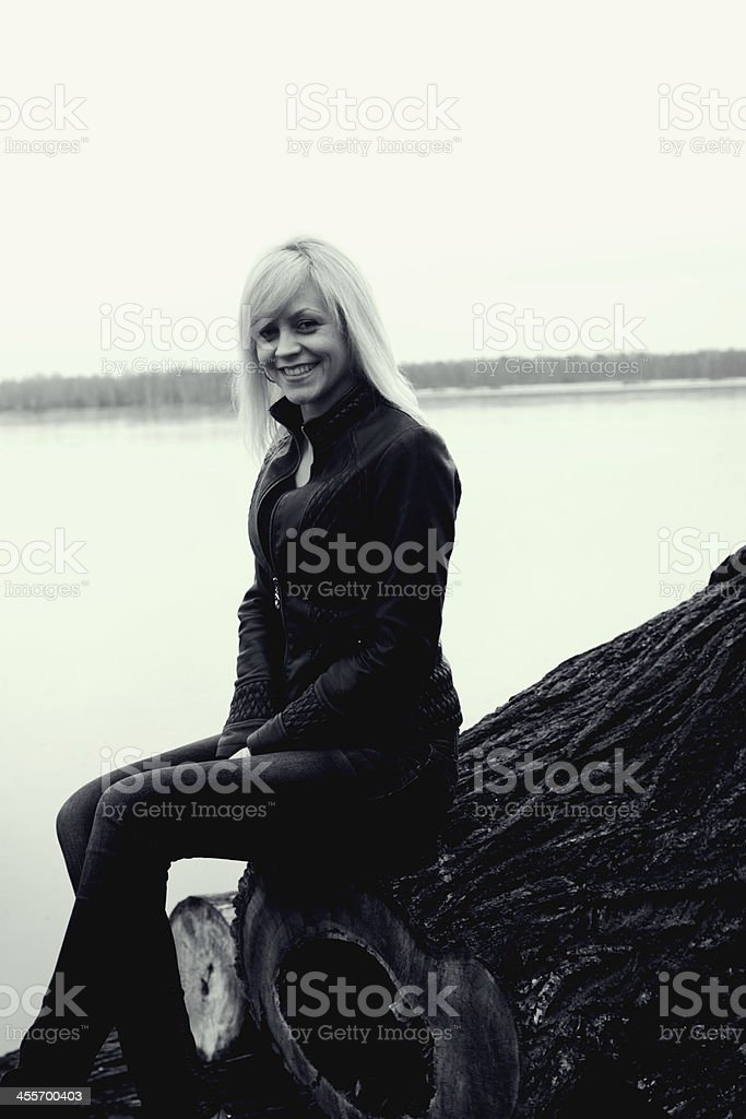 Girl. Russia. winter royalty-free stock photo