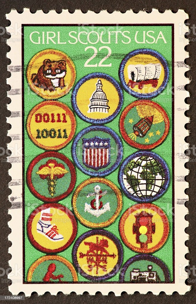 Girl Scout stamp stock photo