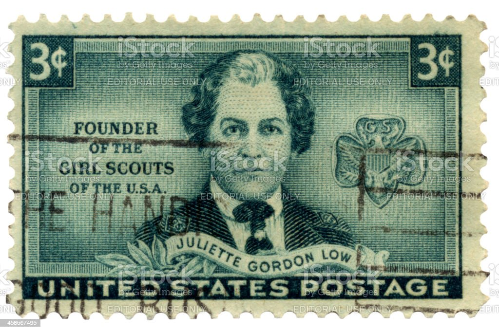 Girl Scouts Founder Juliette Gordon Low Postage Stamp royalty-free stock photo