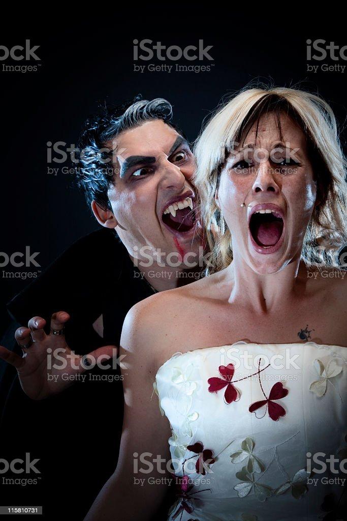 Girl screaming. stock photo