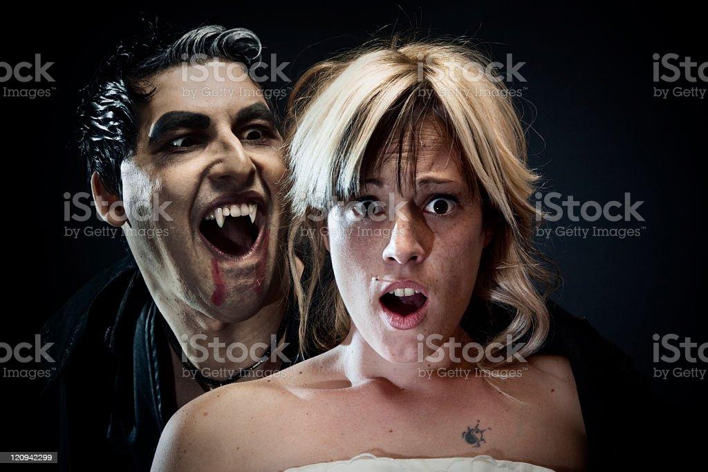 Girl screaming. royalty-free stock photo