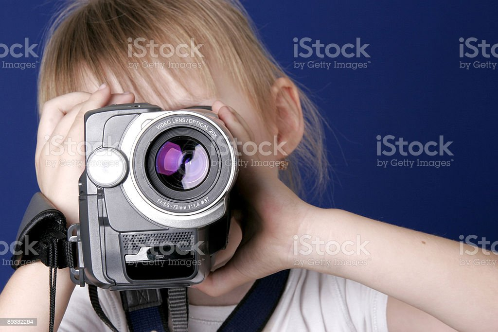 girl shoot home video royalty-free stock photo