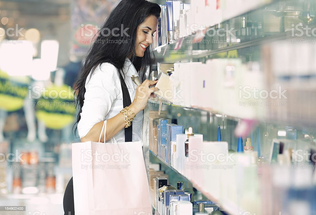 girl shopping cosmetics royalty-free stock photo