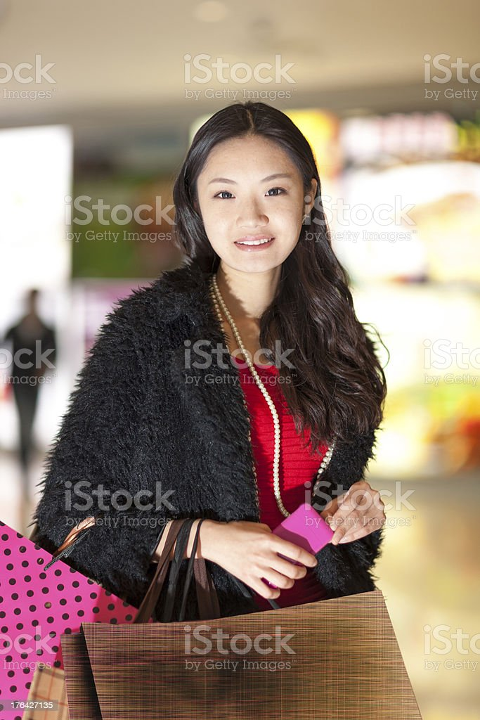 girl shopping royalty-free stock photo