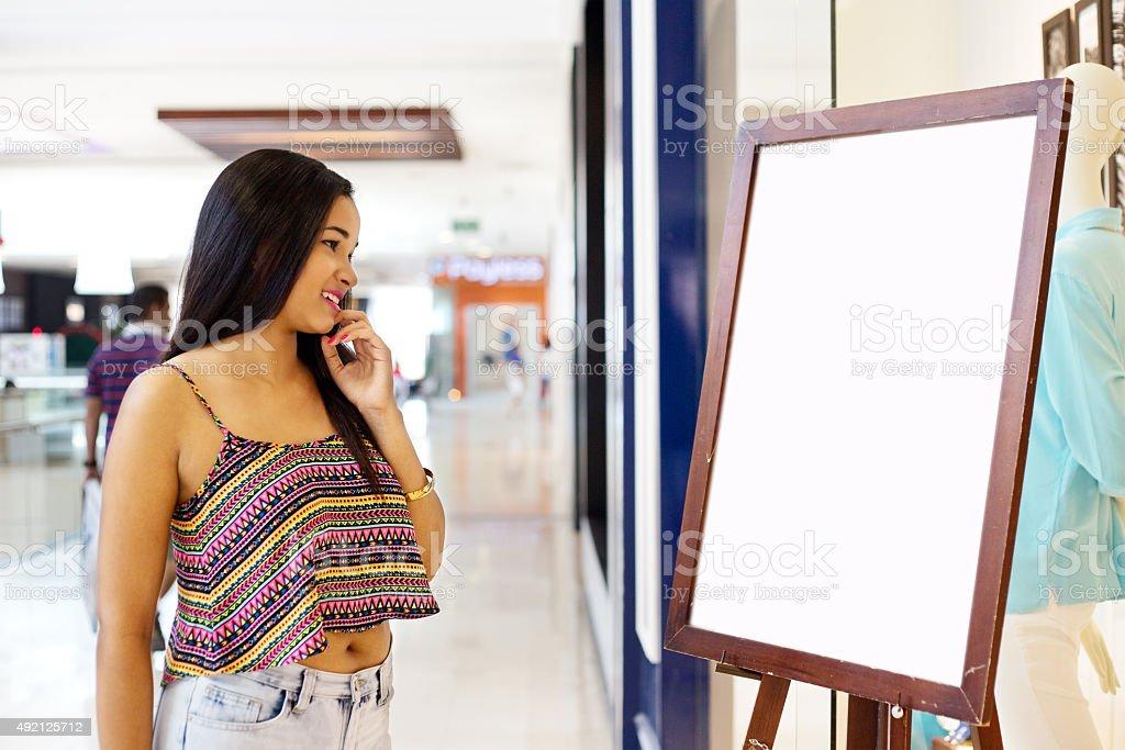 girl shopping stock photo