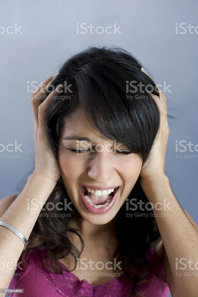 Girl shouting royalty-free stock photo