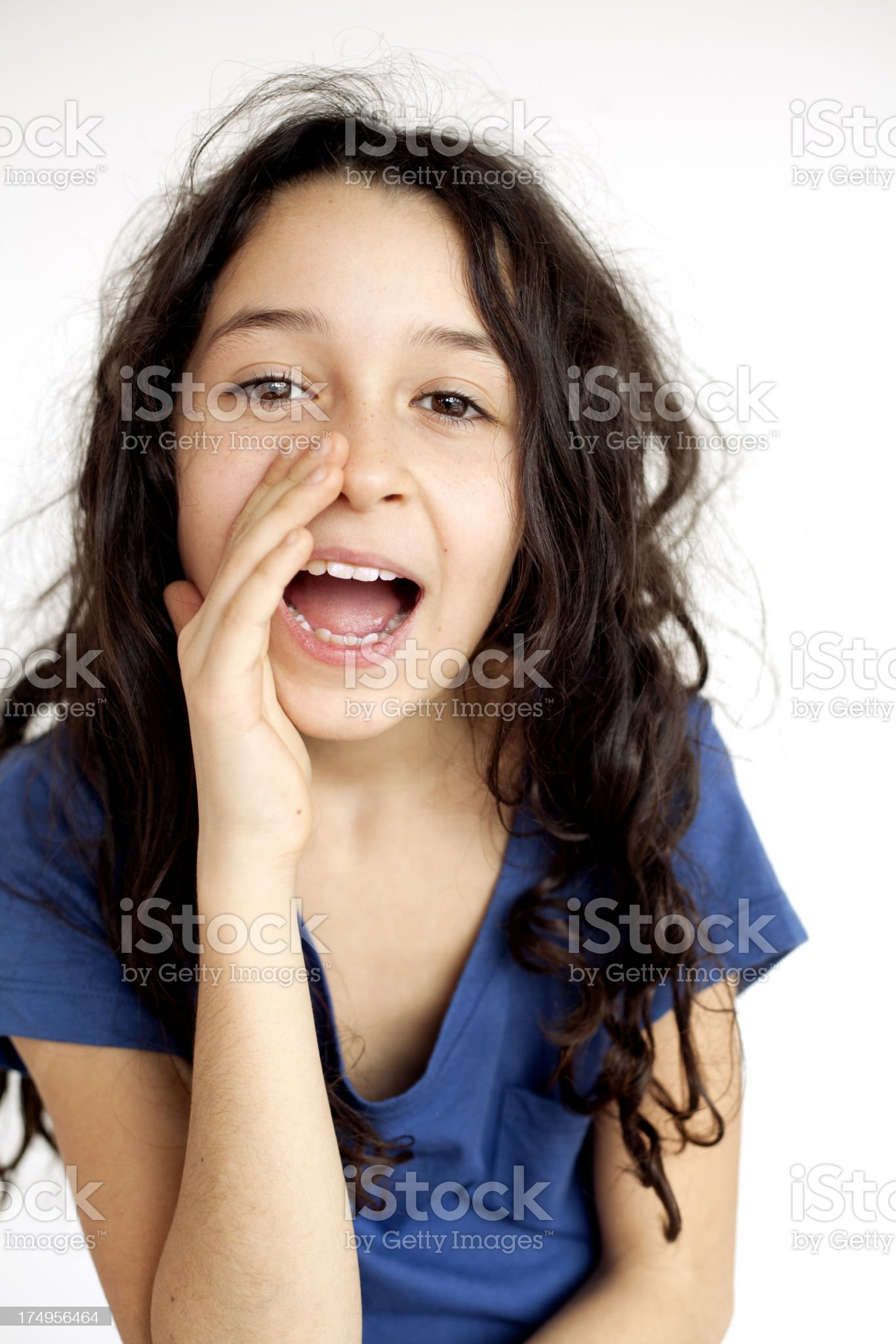 girl shouting royalty-free stock photo