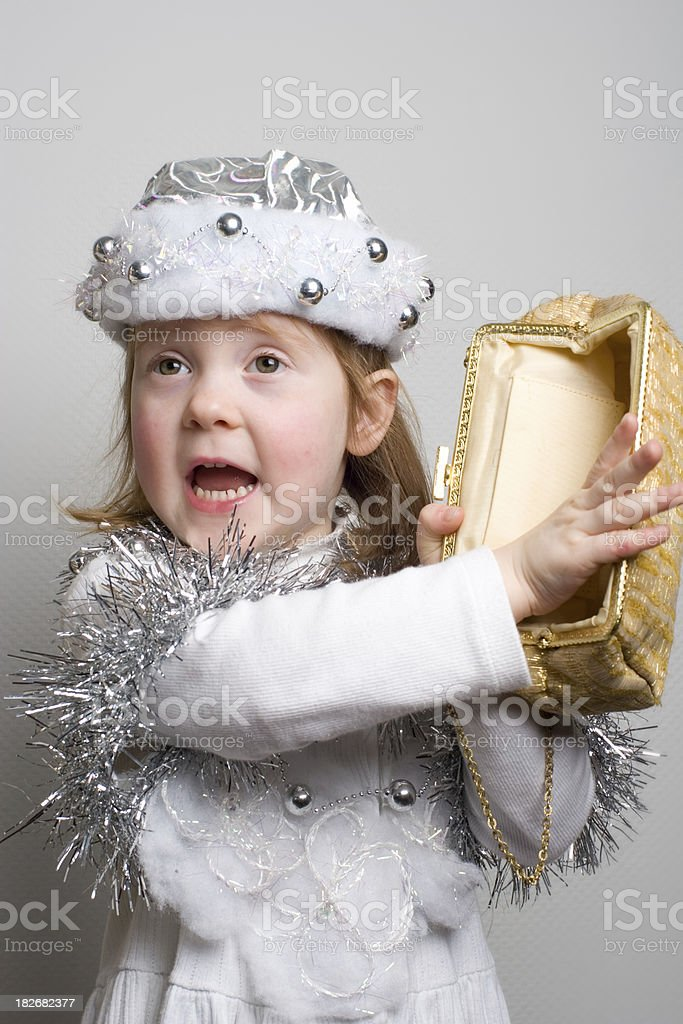 girl showing empty purse royalty-free stock photo