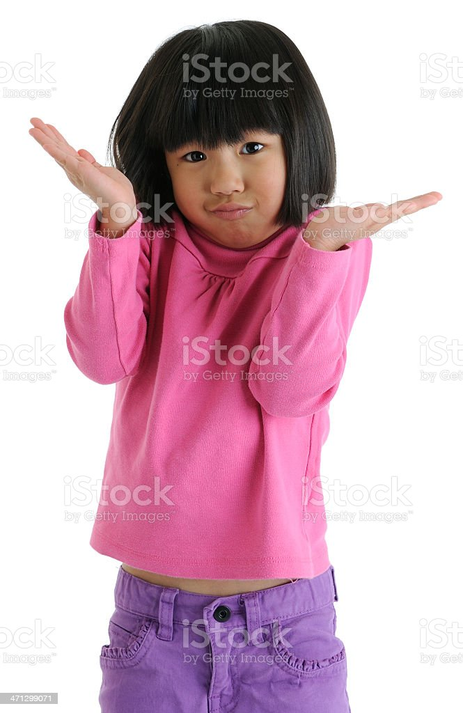Girl Shrugging Her Shoulders royalty-free stock photo