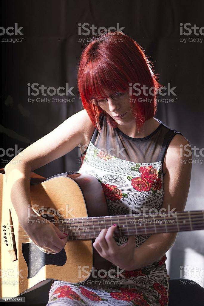 Guitar lesson.