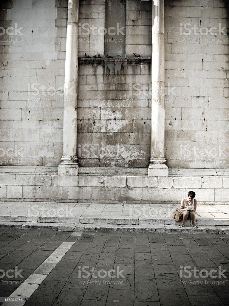 Girl sitting... royalty-free stock photo