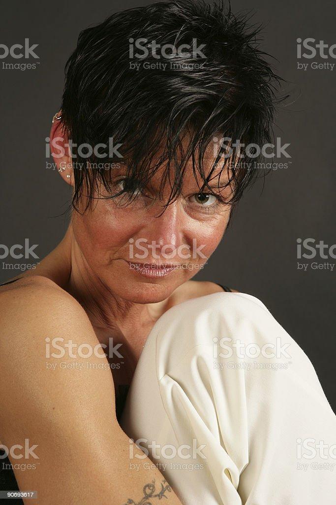 Girl sitting royalty-free stock photo