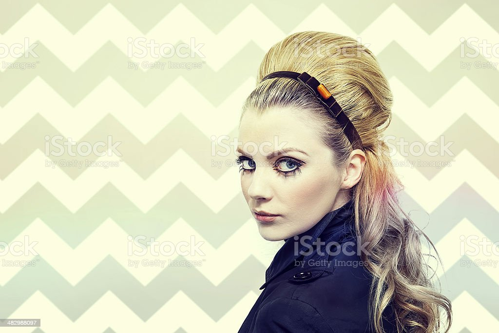Girl sixties style stock photo