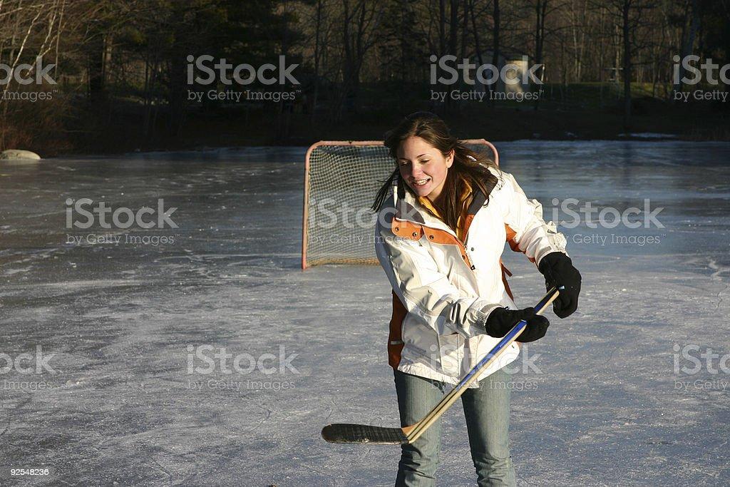 Girl skating II royalty-free stock photo