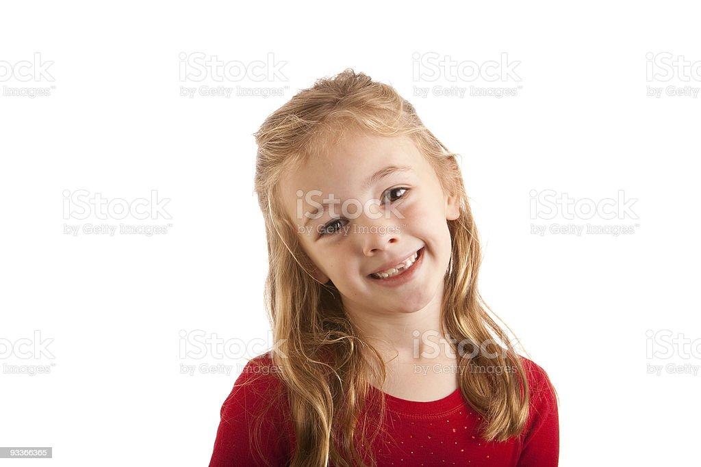 Girl Smiling Isolated stock photo