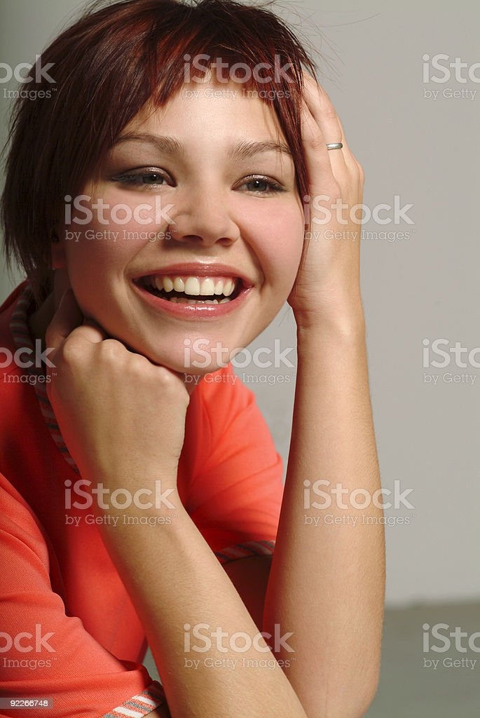 girl smilling pretty royalty-free stock photo