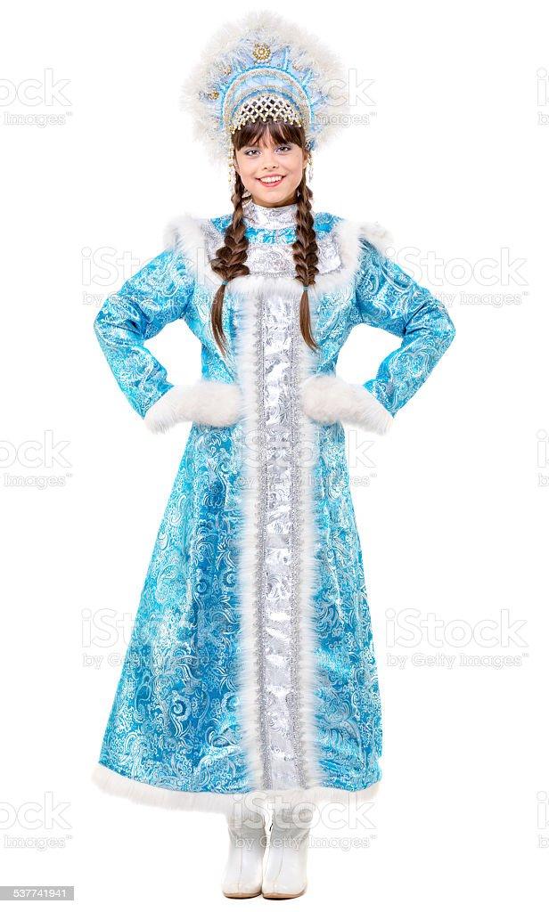 Girl Snow Maiden stock photo