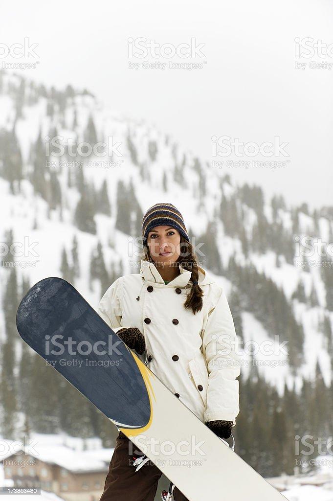 Girl Snowboarder royalty-free stock photo