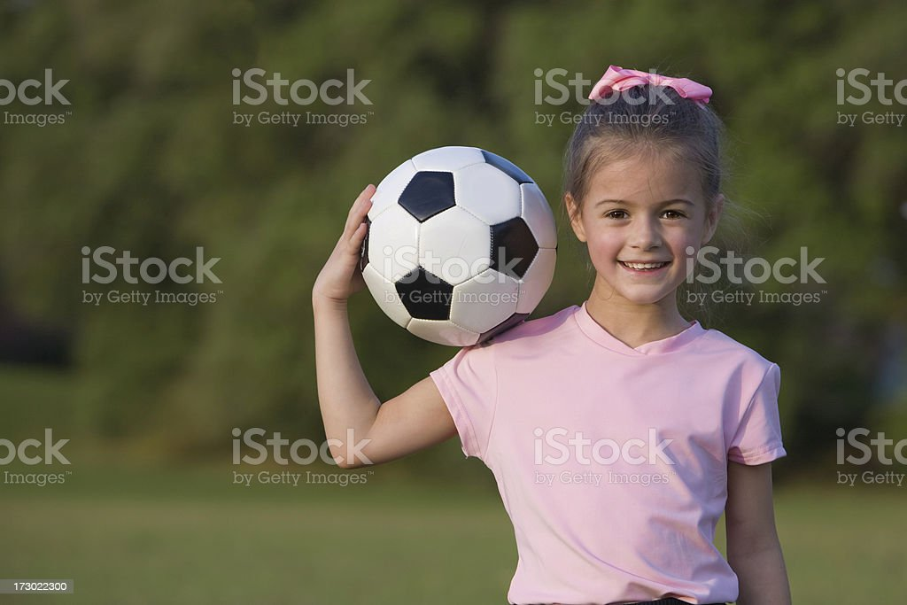 Girl Soccer Power royalty-free stock photo