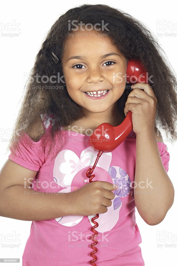 girl speaking on the telephone royalty-free stock photo