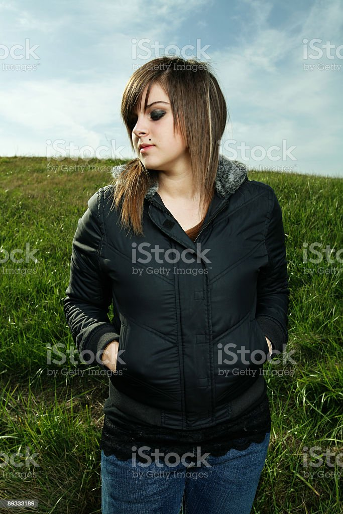 Girl Standing Alone royalty-free stock photo