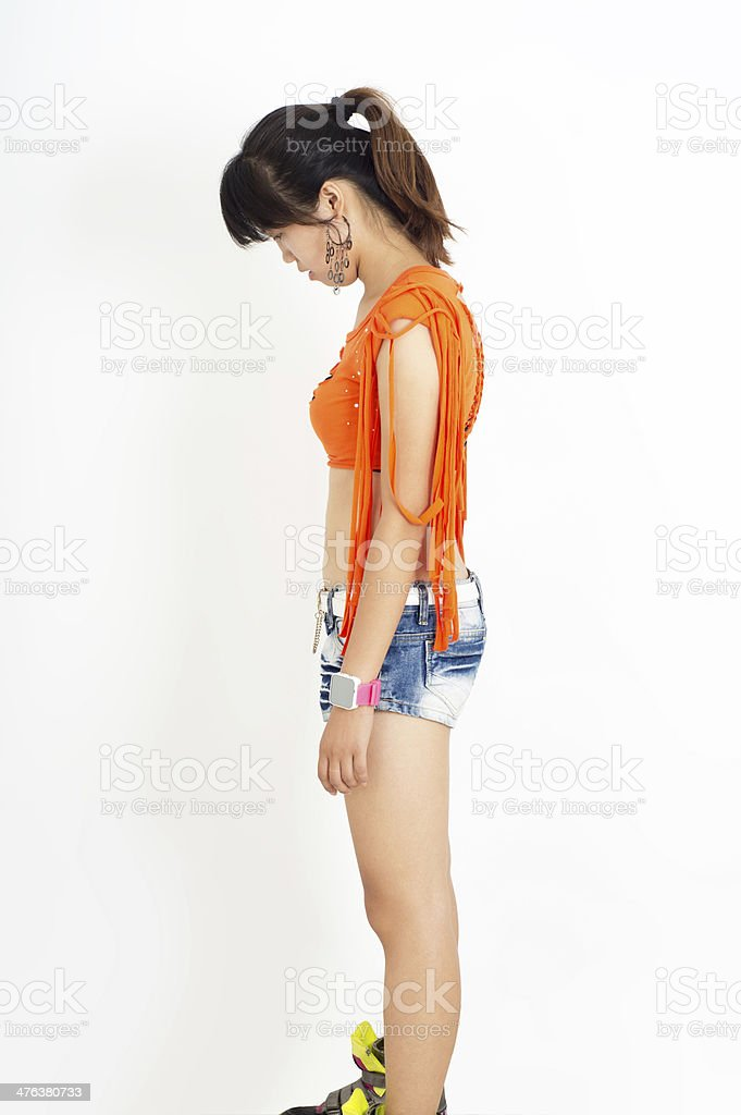 Girl standing royalty-free stock photo