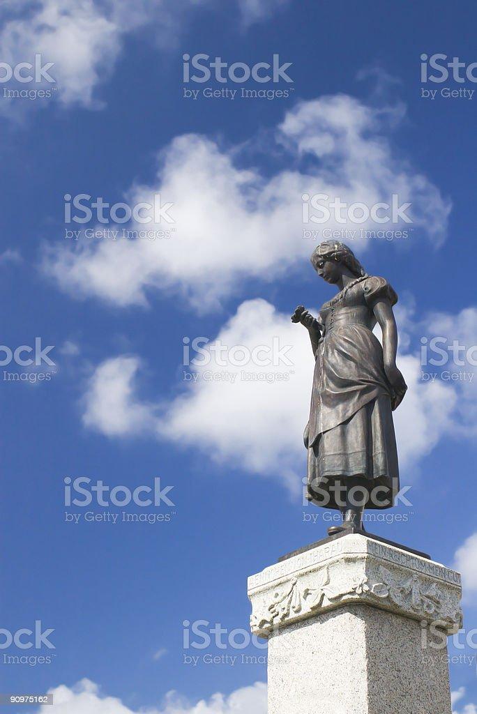 girl statue stock photo
