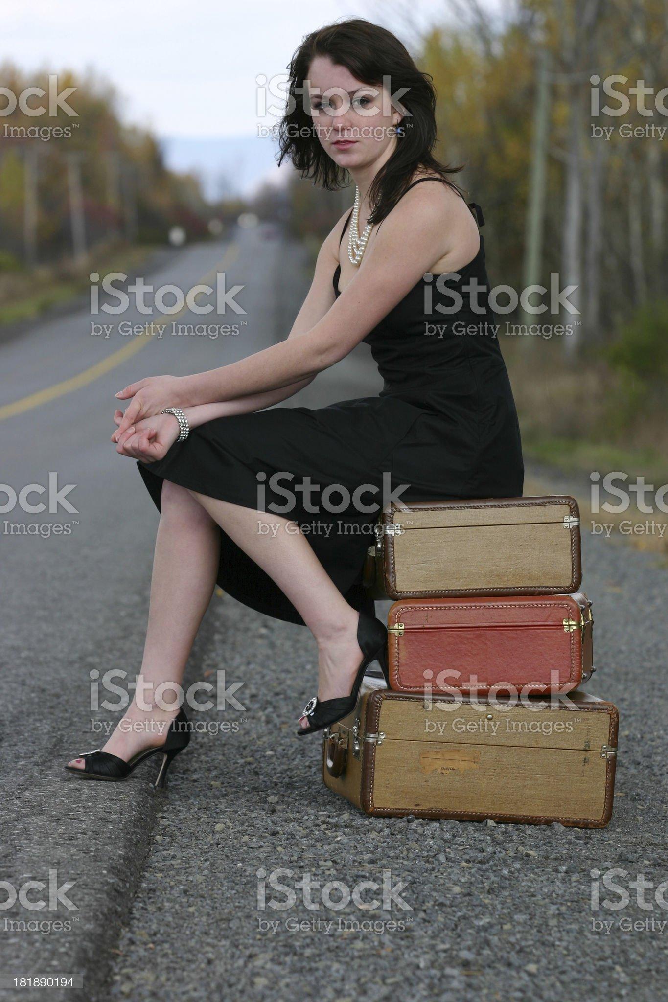 Girl Stranded royalty-free stock photo