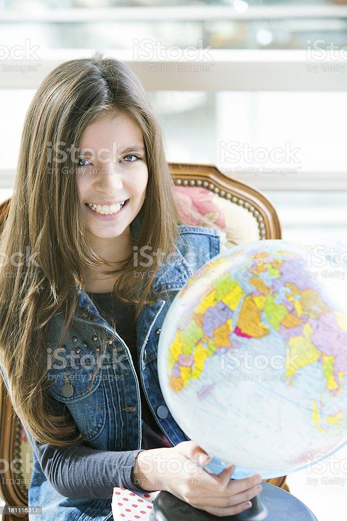 Girl Studying royalty-free stock photo