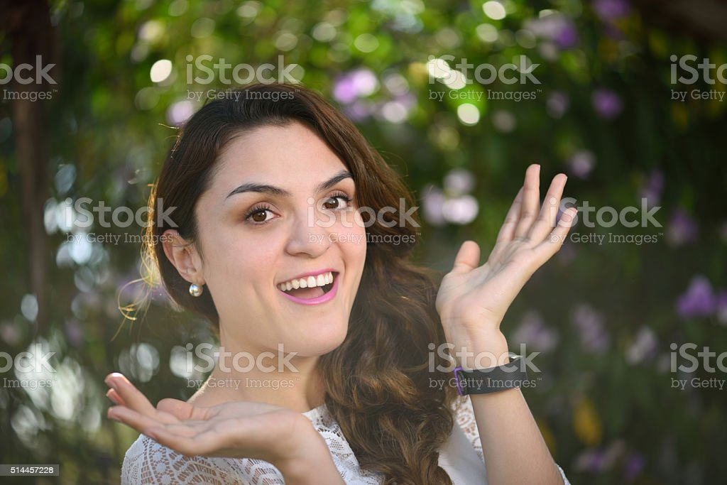 Girl surprised stock photo