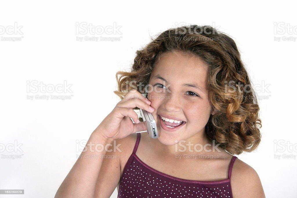 Girl talk 3 royalty-free stock photo