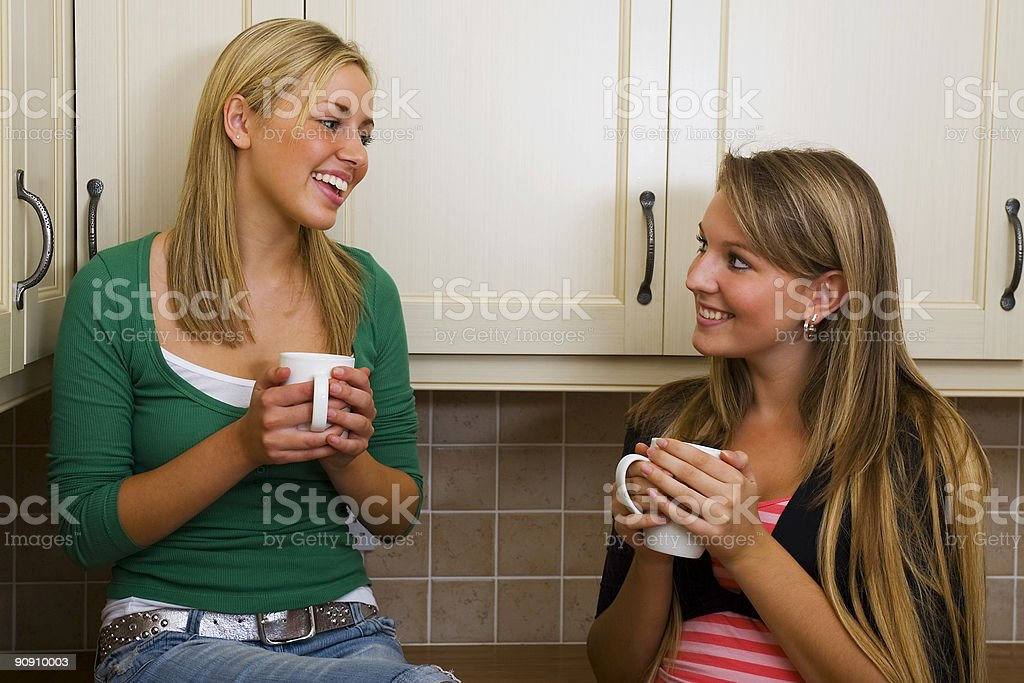 Girl Talk royalty-free stock photo