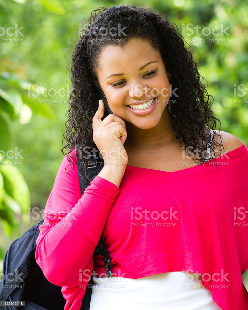 Girl talking on the phone royalty-free stock photo
