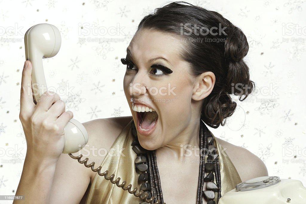 girl talks royalty-free stock photo