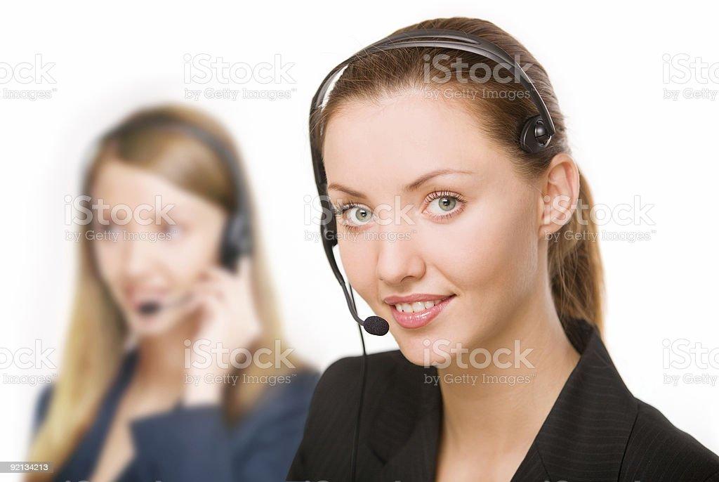 girl - telephone operator royalty-free stock photo