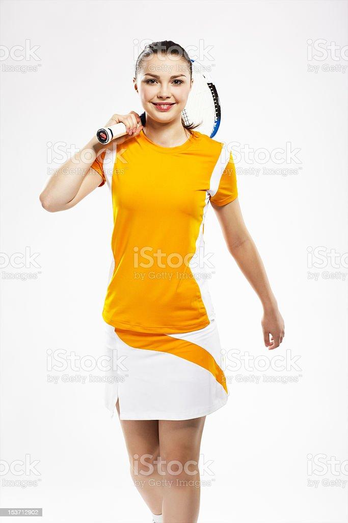 girl tennis player royalty-free stock photo