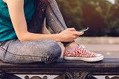 Girl text messaging