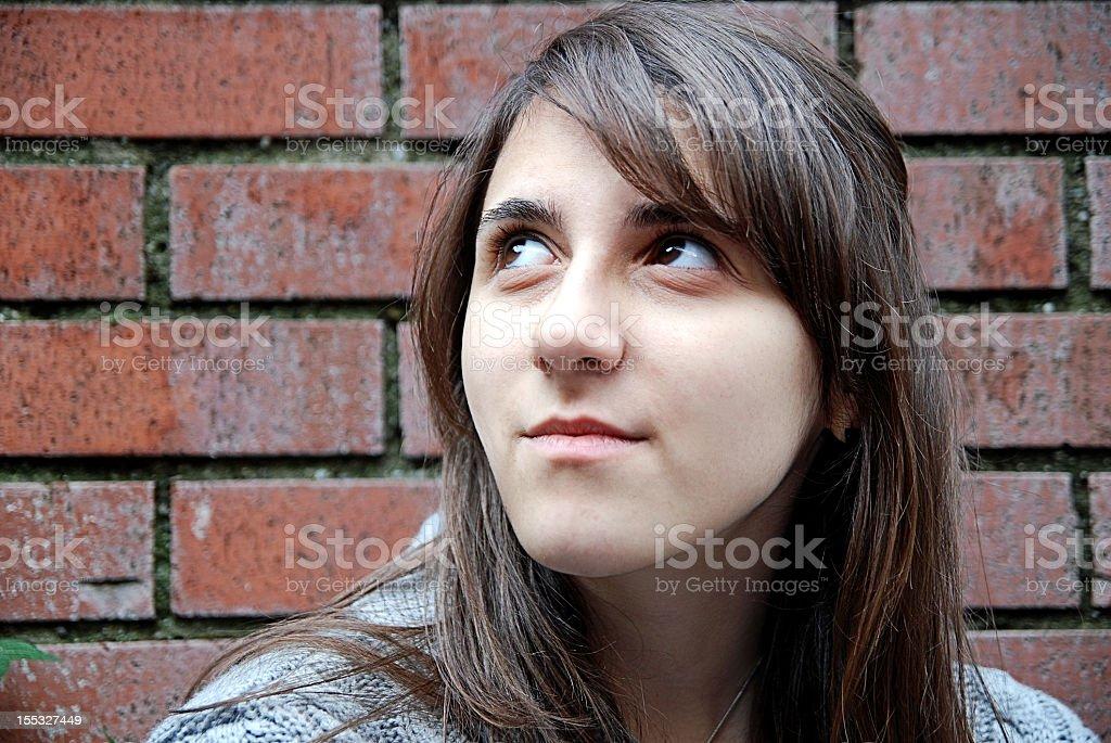 Girl upset royalty-free stock photo