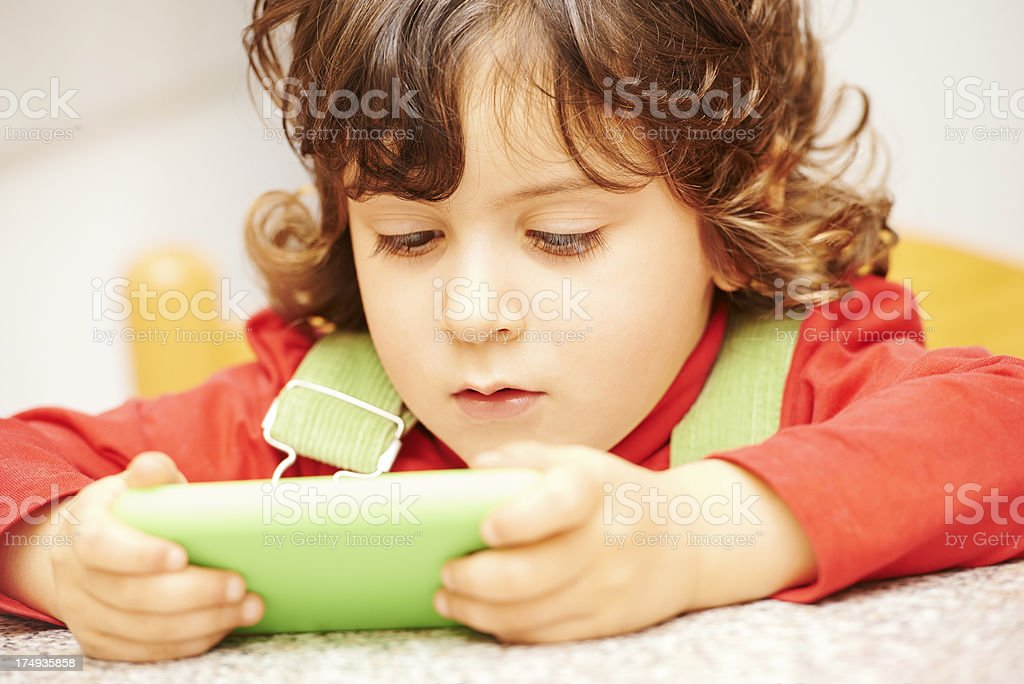 Girl Using a Smartphone royalty-free stock photo