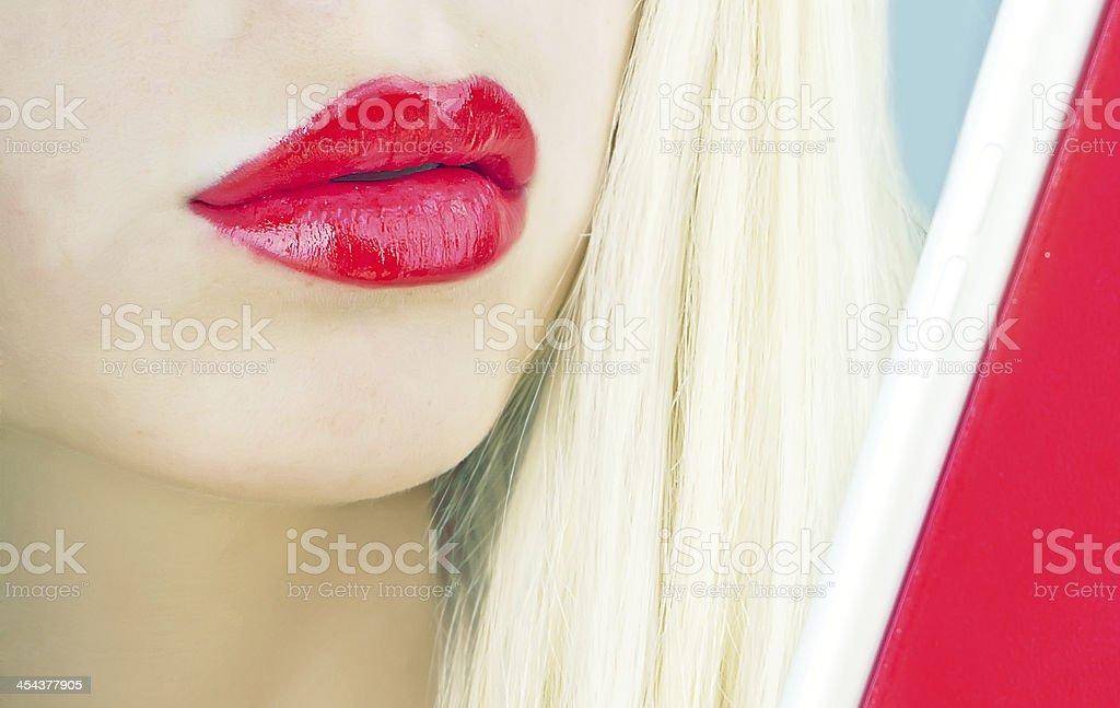 girl using pc royalty-free stock photo