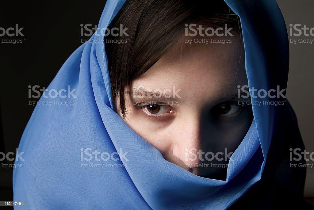 girl veiled 02 royalty-free stock photo