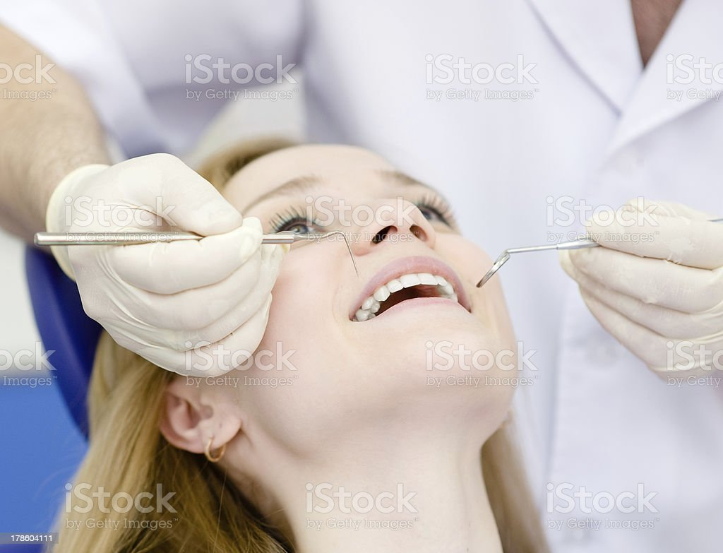 girl visit to the dentist royalty-free stock photo